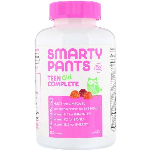 комплекс для подростков-девушек, лимон и лайм, ягоды, кислое яблоко, 120 жевательных таблеток