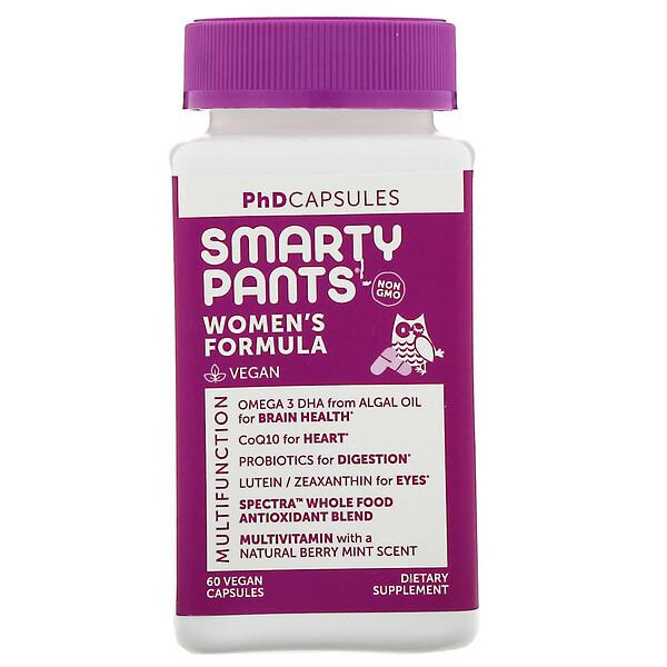 PhD Capsules, формула для женщин, 60растительных капсул