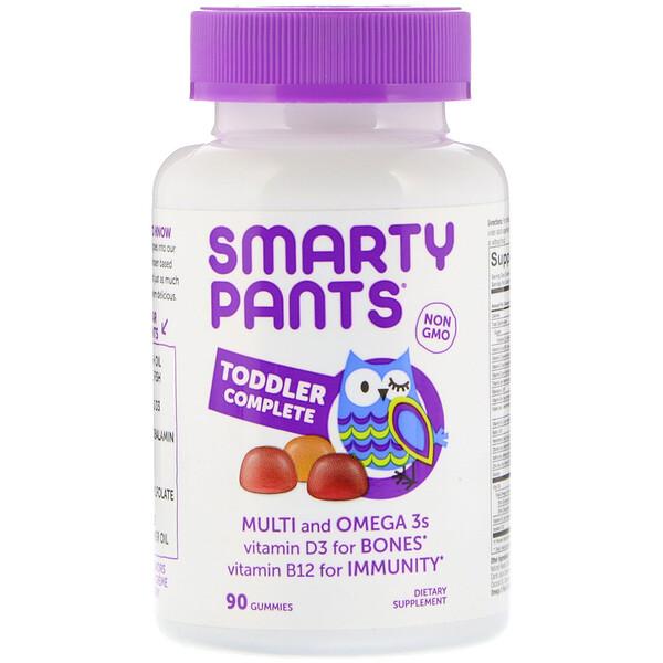 SmartyPants, Комплекс для малышей, поливитамины и жирные кислоты омега-3, 90 жевательных пастилок