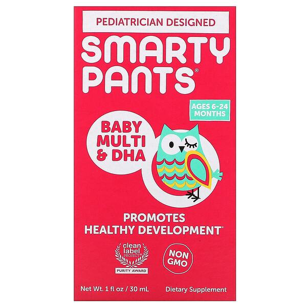 SmartyPants, Baby Multivitamin & DHA Drops, 1 fl oz (30 mL)