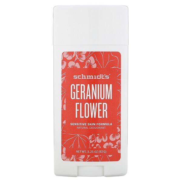 Натуральный дезодорант, для чувствительной кожи, цветок герани, 92г (3,25унции)