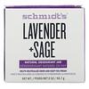 Schmidt's Naturals, Натуральный дезодорант в баночке, лаванда+шалфей, 56,7г (2унции)