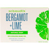 Schmidt's Naturals, Natural Soap, Bergamot + Lime, 5 oz (142 g)