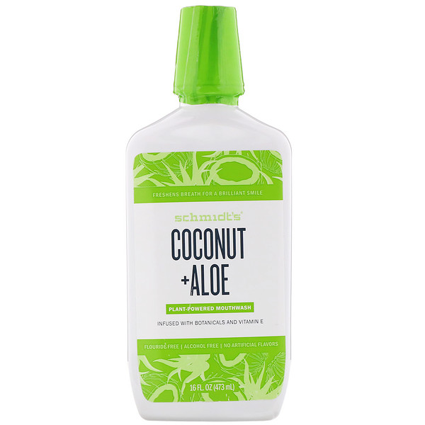 Plant-Powered Mouthwash, Coconut + Aloe, 16 fl oz (473 ml)