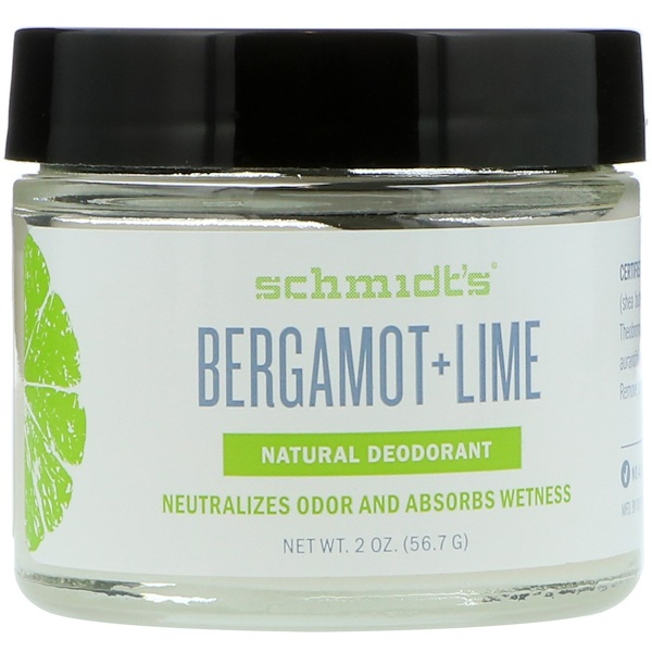 Schmidt's, Natural Deodorant, Bergamot + Lime, 2 oz (56.7 g) (Discontinued Item)