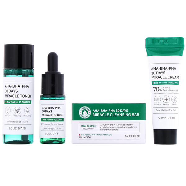 Some By Mi, AHA.BHA.PHA, 30 Days Miracle Starter Edition, 4 Piece Kit