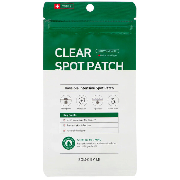 Some By Mi, 30 Days Miracle Clear Spot Patch, 18 Patches