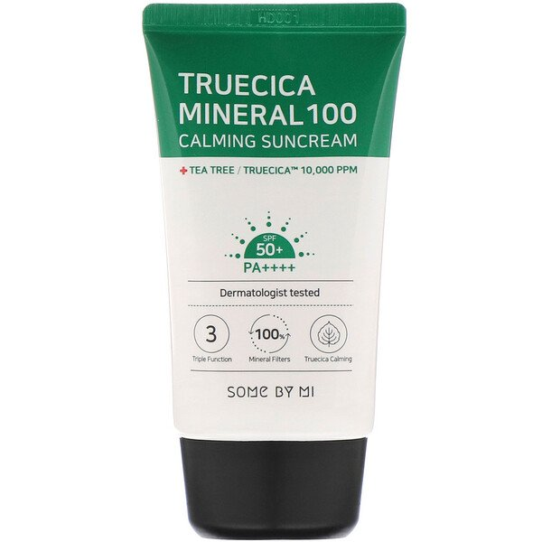 Some By Mi, Успокаивающий солнцезащитный крем Truecica Mineral100, SPF 50+ PA++++, 50мл (1,69жидк.унции)