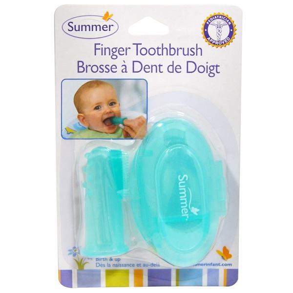 Зубная щётка на палец с футляром