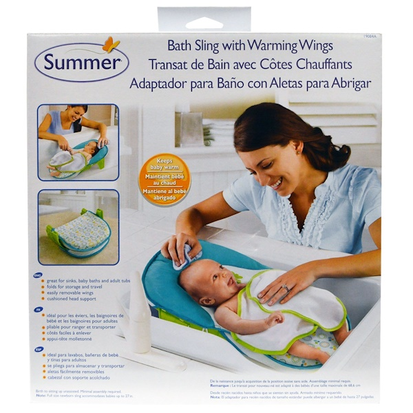 Summer Infant, Вставка в ванночку с согревающими крылышками, 1 набор (Discontinued Item)