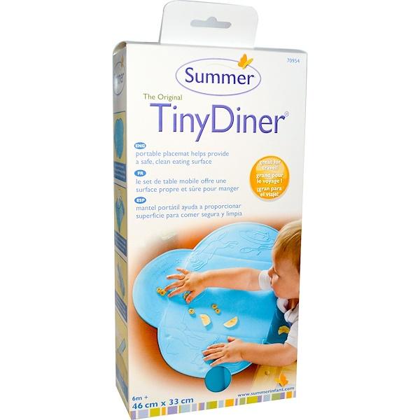 Summer Infant, Оригинальная обеденная подстилка под столовые приборы, синяя, 1 рулон (Discontinued Item)
