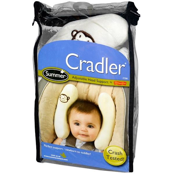 Summer Infant, Cradler, регулируемая поддержка для головы (Discontinued Item)