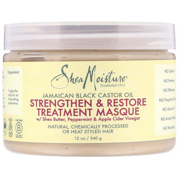 SheaMoisture, Jamaican Black Castor Oil, Strengthen & Restore Treatment Masque, 12 oz (340 g)