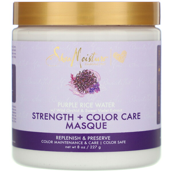 Purple Rice Water, Strength + Color Care Masque, 8 oz (227 g)