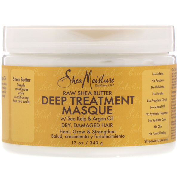 Raw Shea Butter, Deep Treatment Masque, 12 oz (340 g)