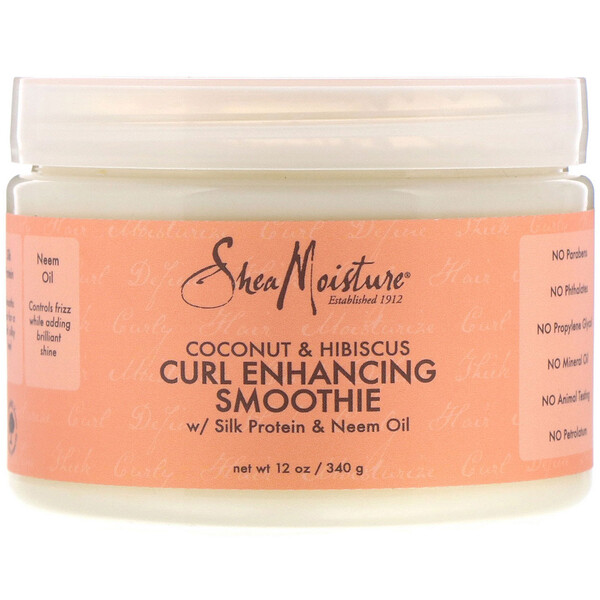 SheaMoisture, Coconut & Hibiscus, Curl Enhancing Smoothie, 12 oz (340 g)