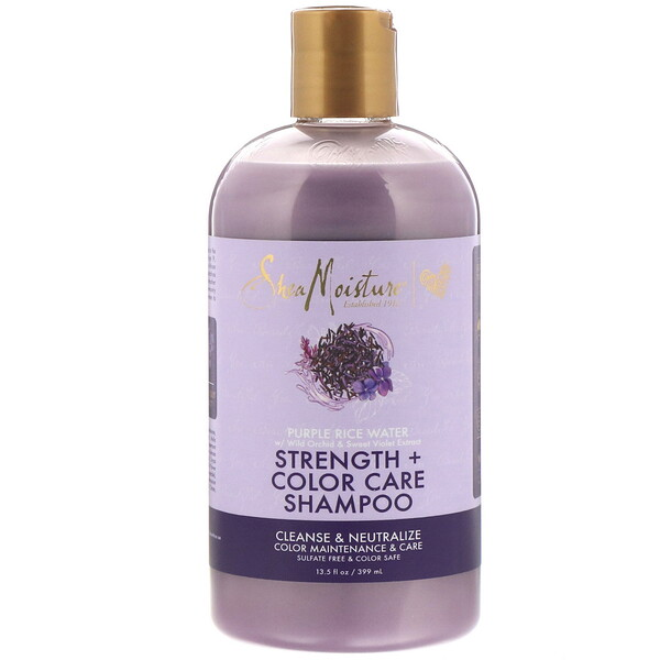 Purple Rice Water, Strength + Color Care Shampoo, 13.5 fl oz (399 ml)