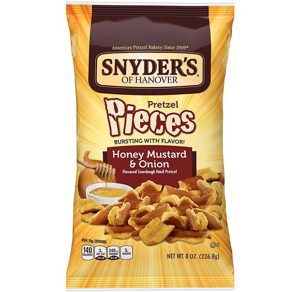 Snyder's, Крендельки, медовая горчица и лук, 226,8г (8унций)