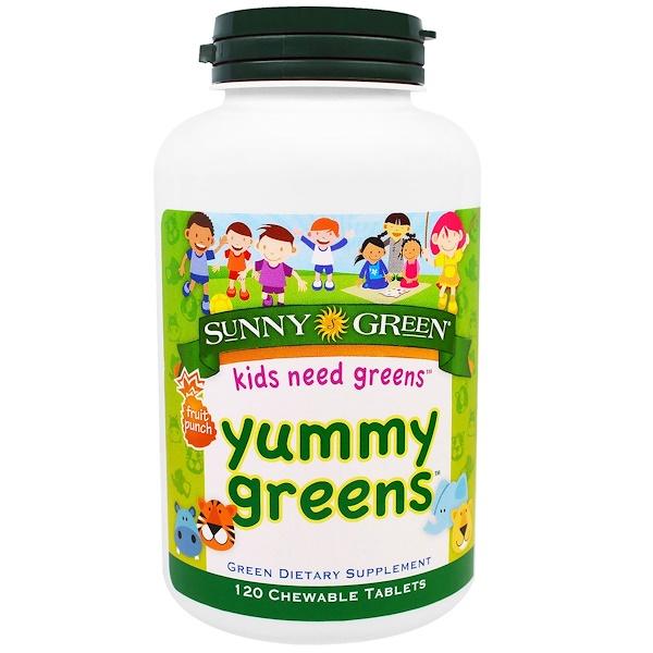 Вкусная зелень, фруктовый пунш, 120 жевательных таблеток