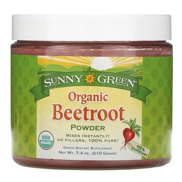 Sunny Green, Органический  порошок из свеклы, 7.4 унции(210 г)