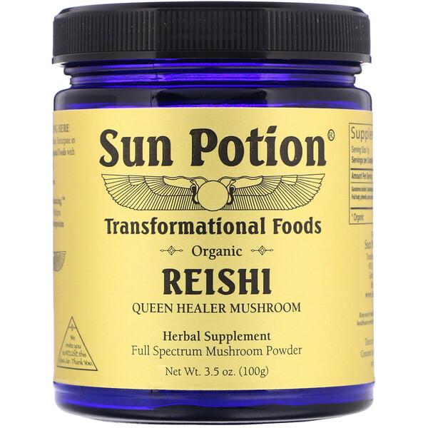 Sun Potion, Органические грибы рейши в виде порошка, 100г
