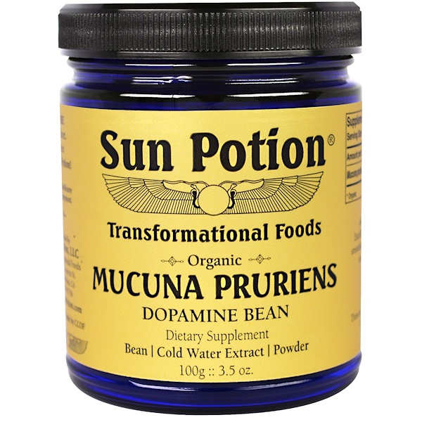 Sun Potion, Порошок Mucuna Pruriens, Органический,  3,5 унции (100 г) (Discontinued Item)