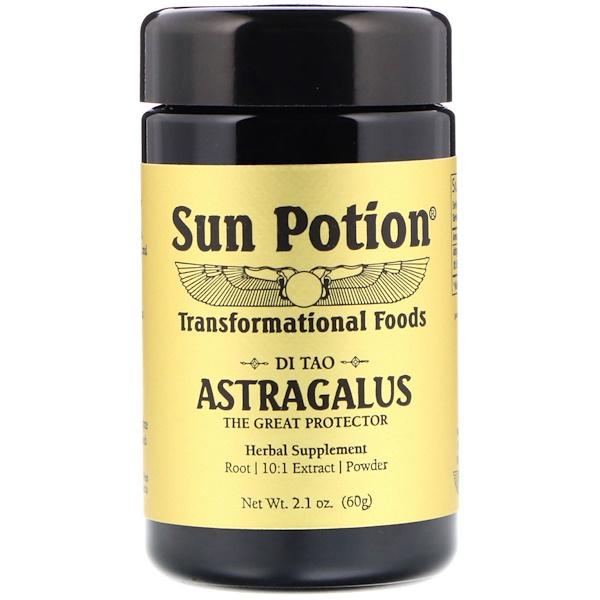 Sun Potion, Порошок Астрагал, Обработка в сыром виде, 2,8 унции (80 г) (Discontinued Item)