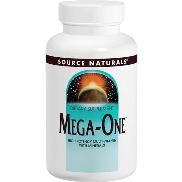 Source Naturals, Mega-One, высокоэффективный мультивитамин с минералами, 60 таблеток