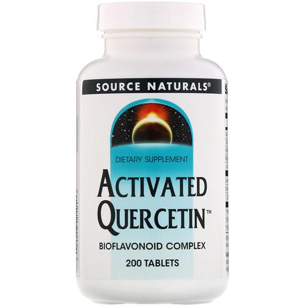 Source Naturals, Активированный кверцетин, 200 таблеток