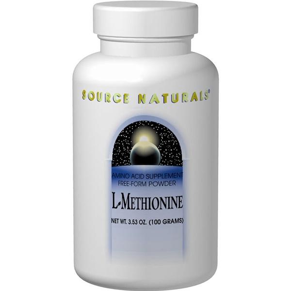 Source Naturals, L-Метионин 3.53 унции (100 г)
