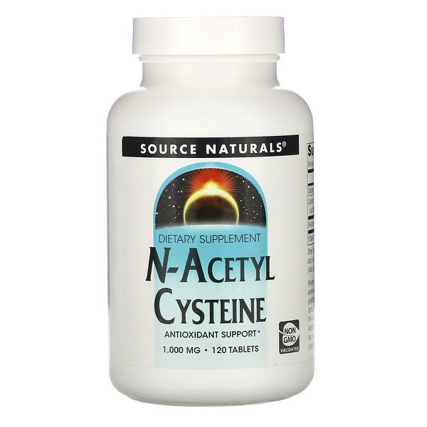 N-ацетилцистеин, 1000 мг, 120 таблеток
