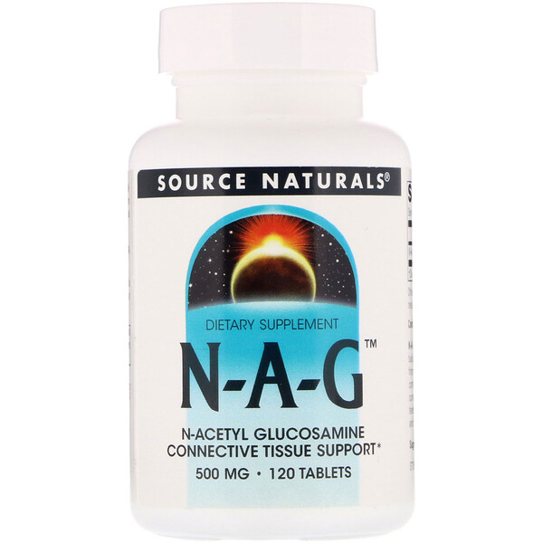 Source Naturals, N-A-G, 500 мг, 120 таблетки