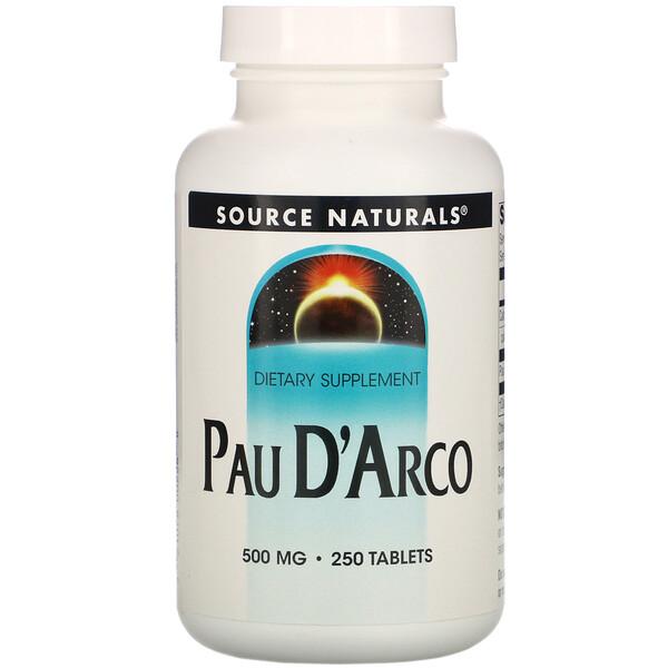 Source Naturals, Кора муравьиного дерева, 500 мг, 250 таблеток