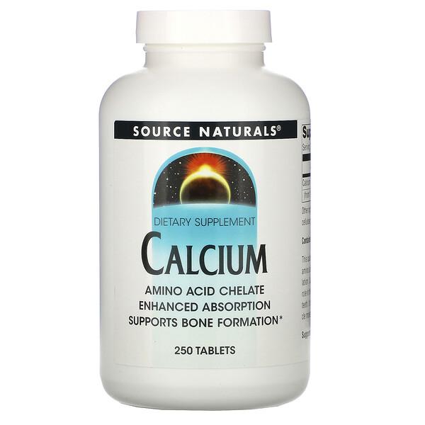 Source Naturals, кальций, 250таблеток
