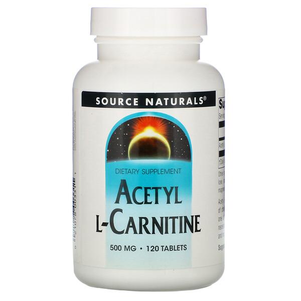 Ацетил L-карнитин,  500 мг, 120 таблеток