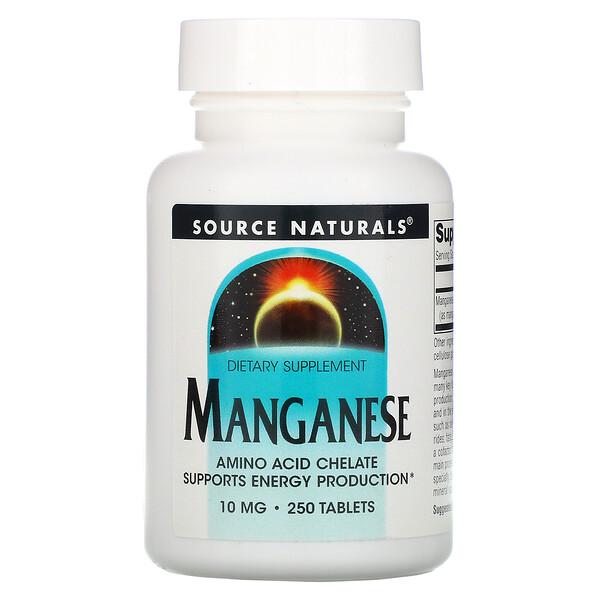 Марганец, 10 мг, 250 таблеток