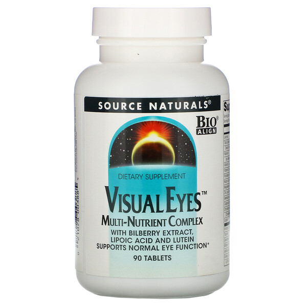 Source Naturals, Visual Eyes, мульти-питательный комплекс, 90 таблеток