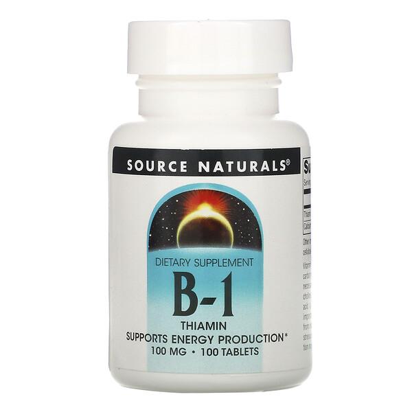 Витамин B-1, тиамин, 100 мг, 100 таблеток