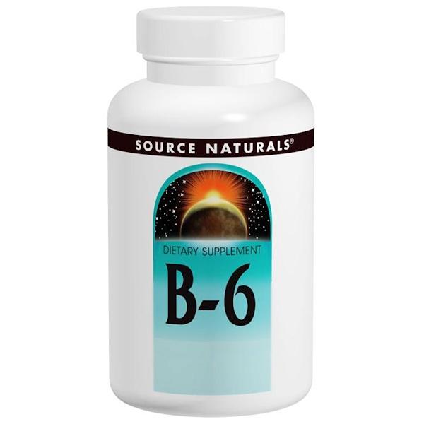 Source Naturals, B-6, 100 mg, 100 Tablets
