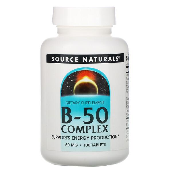 Комплекс B-50, 50мг, 100таблеток