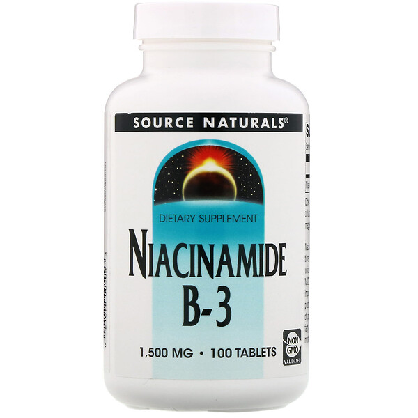 Source Naturals, Niacinamide B-3, 1,500 mg, 100 Tablets