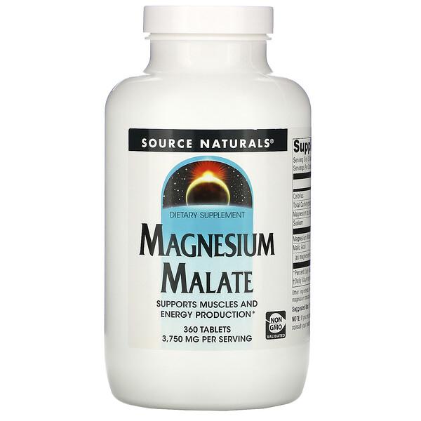 Magnesium Malate, 3,750 mg, 360 Tablets