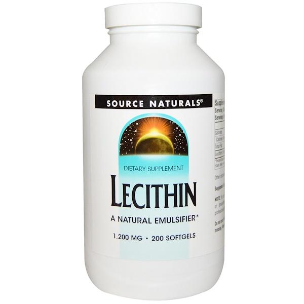 Лецитин, 1200 мг, 200 мягких желатиновых капсул