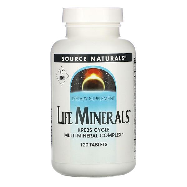 Source Naturals, «Микроэлементы жизни» без железа, 120 таблеток