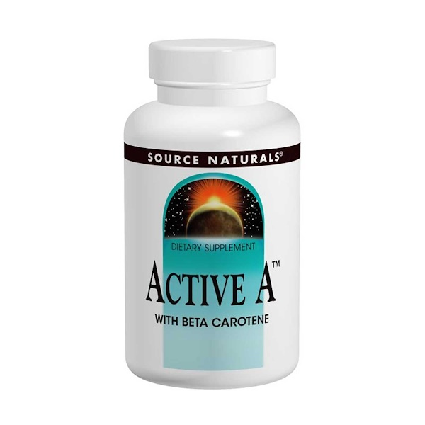 Source Naturals, Active A, 25,000 IU, 120 Таблеток