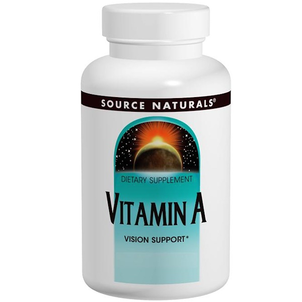 Source Naturals, Витамин А 10 000 МЕ, 100 таблеток
