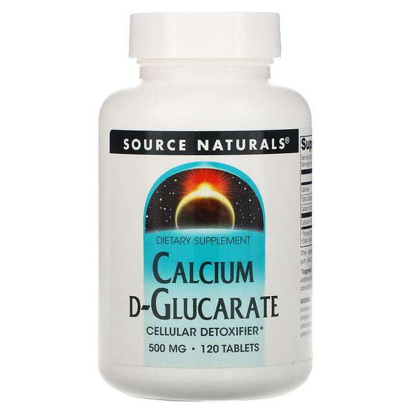 Source Naturals, Кальция D-глюкарат, 500 мг, 120 таблеток
