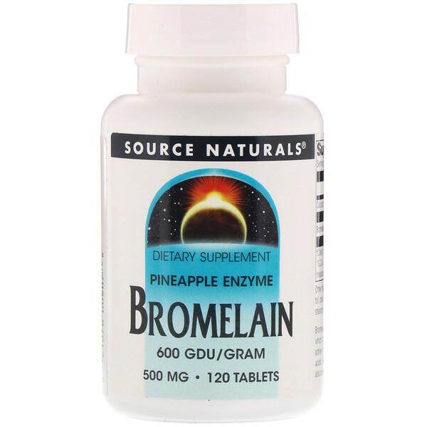 Bromelain 600 GDU/g, 500 mg, 120 Tablets