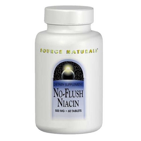 Ниацин, не вызывает приливов крови, 500 мг, 60 таблеток
