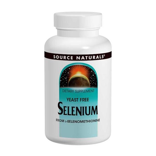 Селен (из L-селенометионина), 200 мкг, 120 таблеток